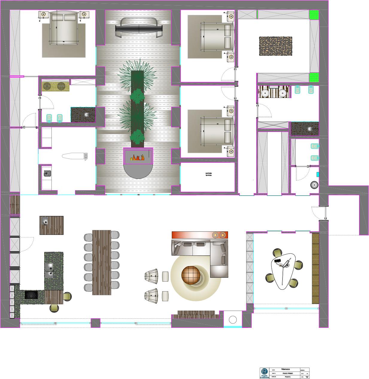 Progetto arredamento casa progetto di spazi e arredamento for Programma per arredare casa